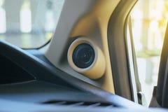 Des vorderen inneres System Sprecher-Audios des Autos Stockfotografie