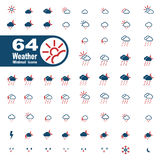 Des Wetters Ikonen einfach Lizenzfreie Stockbilder