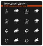 Des Wetters Ikonen einfach Stockfotos
