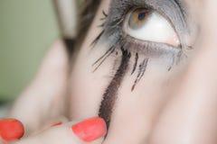 Des yeux de maquillage, ils régalent le joueur Photographie stock libre de droits