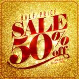 Des zum halben Preis hohes Design Verkaufsspotts, 50% weg vektor abbildung