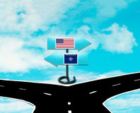 Desacordos entre os E.U. e a OTAN Imagem de Stock