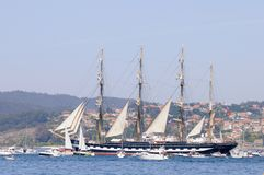 Desafío atlántico de las naves altas Imagen de archivo