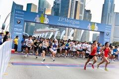 Desafío corporativo 2011 de Singapur JP Morgan Fotos de archivo libres de regalías