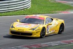 Desafío de Ferrari 458 Foto de archivo libre de regalías