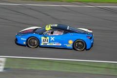 Desafío de Ferrari Italia en la pista Fotos de archivo libres de regalías