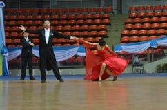 Desafío de la danza de salón de baile en Tailandia 2013 Imagen de archivo libre de regalías