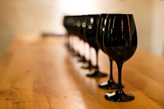 Desafío de la degustación de vinos Fotografía de archivo