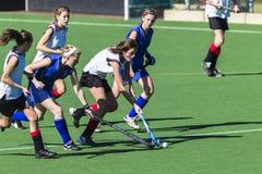 Desafío de las muchachas del hockey Foto de archivo