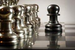 Desafío del ajedrez Imagen de archivo libre de regalías