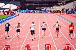 Desafío del atletismo de la inhabilidad de Londres de la visa Foto de archivo libre de regalías