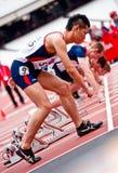 Desafío del atletismo de la inhabilidad de Londres de la visa Imagen de archivo