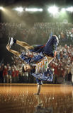 Desafío del bailarín del hip-hop Fotografía de archivo libre de regalías