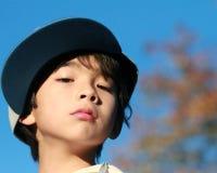 Desafío y confianza del niño joven imagen de archivo libre de regalías