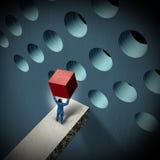 Desafíos de la gestión de negocio ilustración del vector