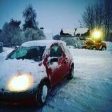 Desafíos de la nieve en Suecia imagenes de archivo