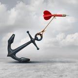 Desafíos en negocio stock de ilustración