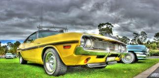 Desafiador americano R/T de Dodge de los años 70 clásicos Fotos de archivo libres de regalías