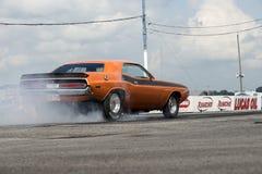Desafiador de Dodge na ação Foto de Stock