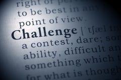 Desafio Imagem de Stock