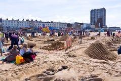 Desafio anual do castelo de areia de RIBA em Margate, Reino Unido imagem de stock royalty free