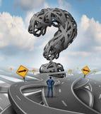 Desafio da confusão das estradas ilustração do vetor