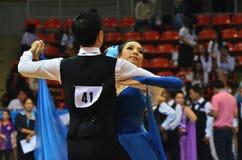Desafio da dança de salão de baile em Tailândia 2013 Imagens de Stock Royalty Free
