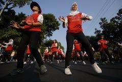 DESAFIO DO ANFITRIÃO DOS JOGOS ASIÁTICOS DE INDONÉSIA Foto de Stock Royalty Free