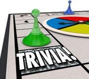 Desafio do conhecimento do divertimento do jogo de mesa da trivialidade que joga o teste do questionário ilustração stock