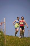 Desafio do corredor da montanha Fotos de Stock
