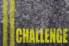 Desafio escrito Imagem de Stock Royalty Free