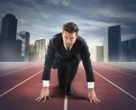 Desafio novo do homem de negócios Foto de Stock Royalty Free