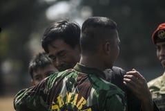 DESAFIO NOVO MILITAR DA SEGURANÇA DAS FORÇAS ARMADAS DO EXÉRCITO DE INDONÉSIA Imagens de Stock