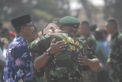 DESAFIO NOVO MILITAR DA SEGURANÇA DAS FORÇAS ARMADAS DO EXÉRCITO DE INDONÉSIA Imagem de Stock Royalty Free