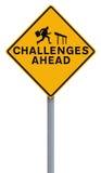 Desafios adiante imagens de stock