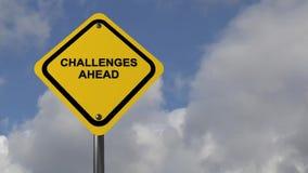 Desafios adiante ilustração do vetor