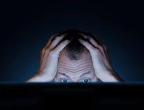 Desafios do trabalho em um computador Imagens de Stock
