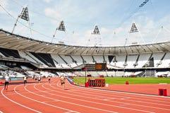 Desafío del atletismo de la inhabilidad de Londres de la visa Imagenes de archivo