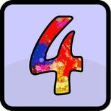 Desain di numero per tutti gli usi illustrazione vettoriale