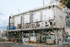 desalinationväxt royaltyfri fotografi