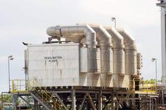desalinationväxt Arkivfoto
