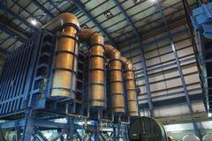 Desalinizadora de la central eléctrica Fotos de archivo