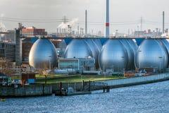 Desalinizadora en el puerto de Hamburgo imagen de archivo libre de regalías