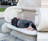 Desamparados en Barcelona Imagen de archivo libre de regalías