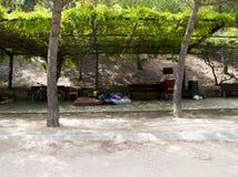 Desamparados en Barcelona Fotografía de archivo