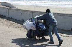 Desamparados en la playa Imágenes de archivo libres de regalías