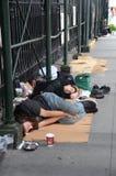 Desamparados en Nueva York Imagen de archivo libre de regalías