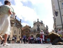 Desamparados en Praga Imágenes de archivo libres de regalías