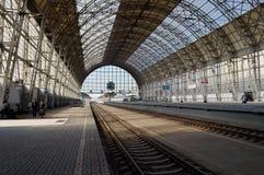 Desantowa scena Kijowska stacja kolejowa Zdjęcie Stock