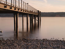 Desantowa scena przy jeziorem Constance Zdjęcie Royalty Free